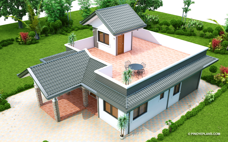 Sanjorjo 3 Bedroom One Storey With Roof Deck Pinoy Eplans