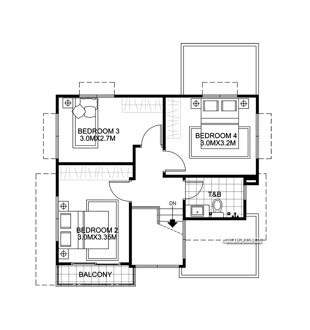 Ernesto Compact 4 Bedroom Modern House Design Pinoy Eplans