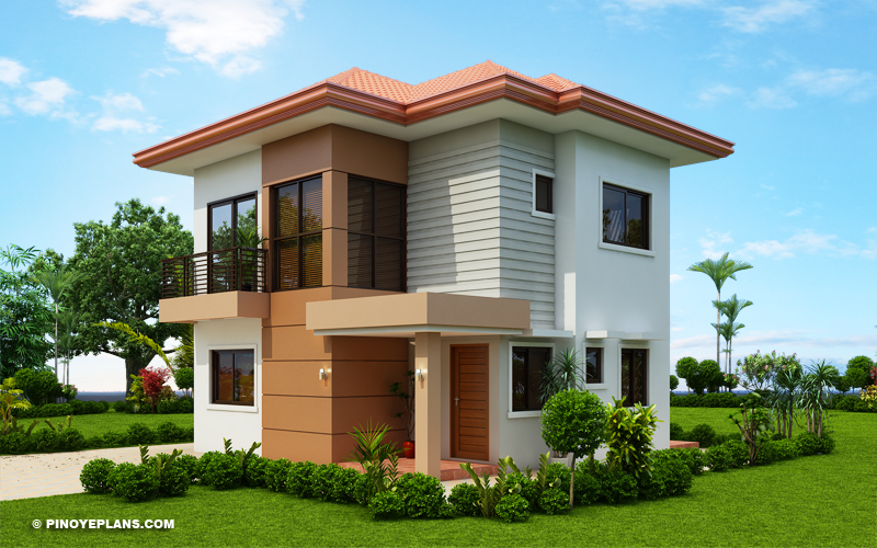 Elisa Four Bedroom Compact Two Storey House Design Pinoy Eplans