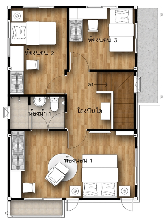 3 Elegant Two Storey House Designs With Three Bedrooms Pinoy Eplans