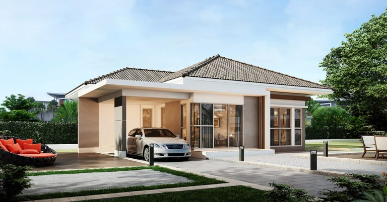 Beautiful 3 Bedroom Bungalow With Cross Hip Roof Pinoy Eplans