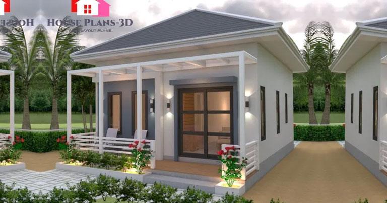 Cozy 6 8 Meters One Bedroom Studio Type House Pinoy Eplans