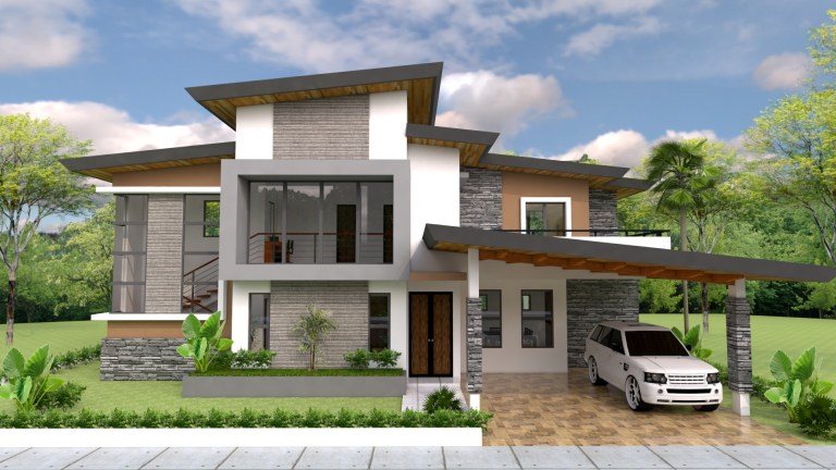 Awesome Three Bedroom Double Storey House Design Pinoy Eplans
