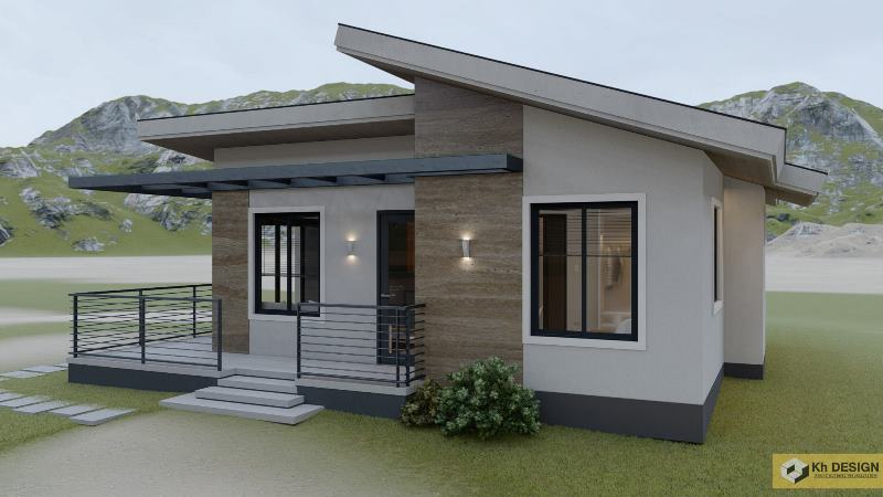 Picture of Elegant Contemporary House with a Shed Roof